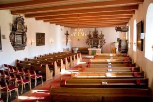Innenraum Stedesander Kirche