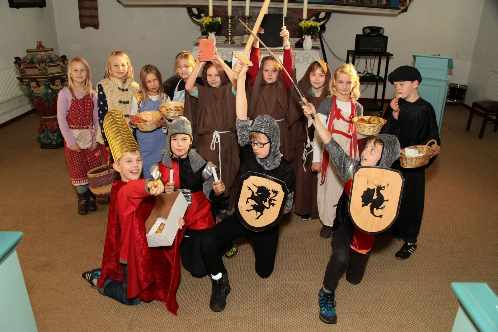 Reformation Schule Kirche Gruppenbild