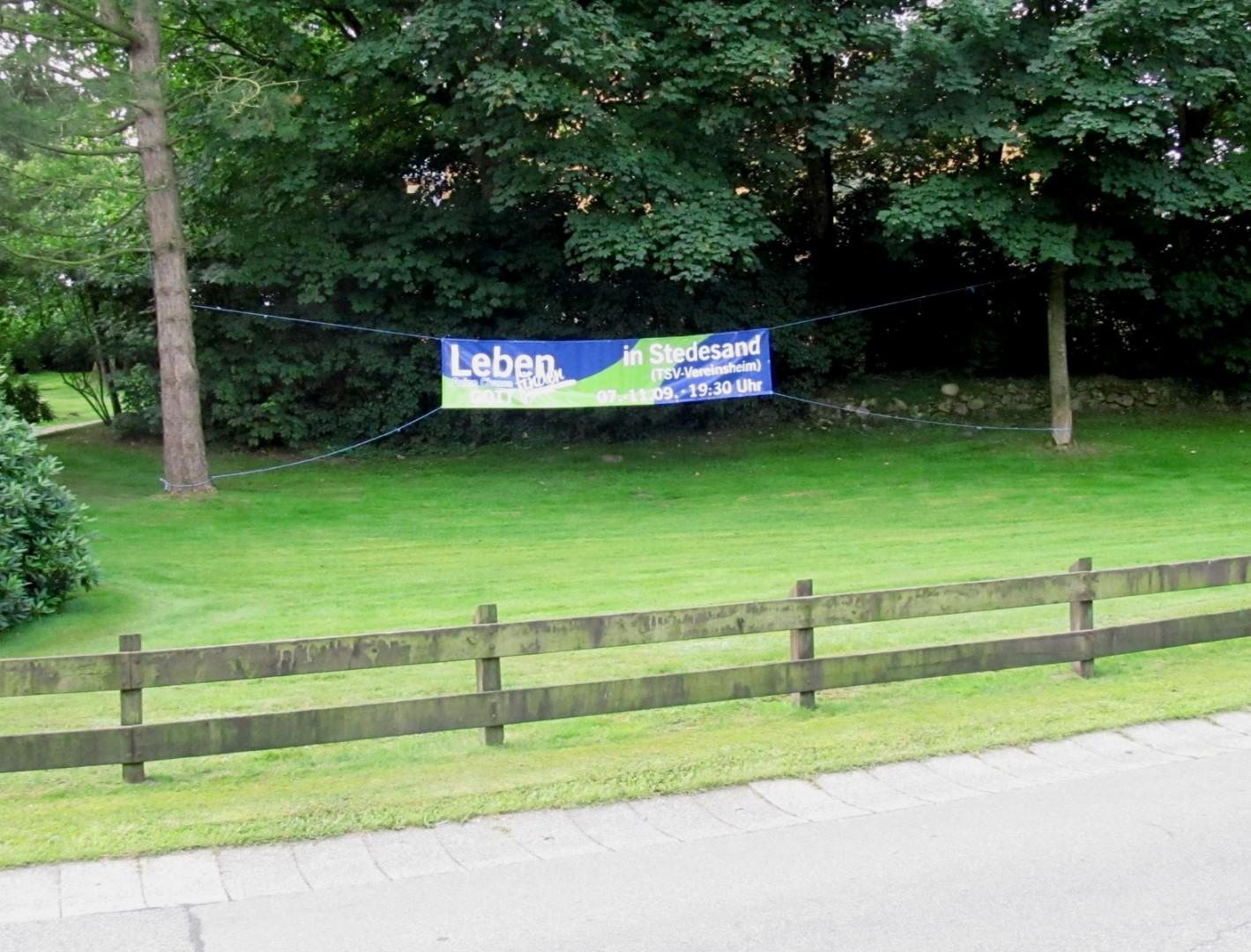 Banner Kirche Enge